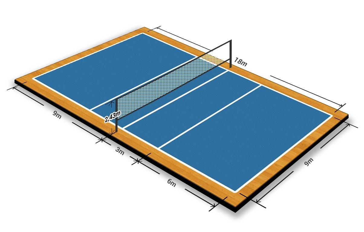 Стандартное поле для игры в волейбол (размеры)